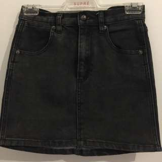 Black Denim Skirt Size XS