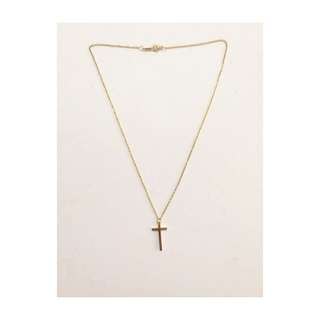Stainless steel Gold color necklace - Cross Pendant