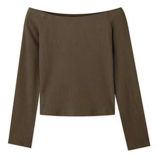 羅紋平口上衣