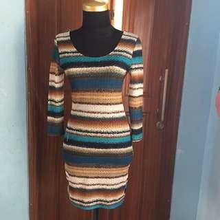 Dress Knitt Tipis Bahan Melar