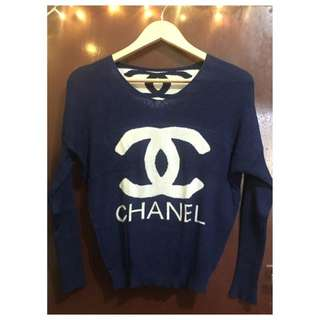 Chanel Blue Top