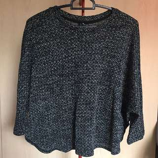Cotton on black knitted long sleeve pullover