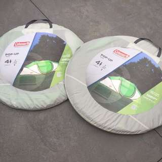 🔥BULK DEAL🔥Two Coleman 4-Person Pop Up Tents