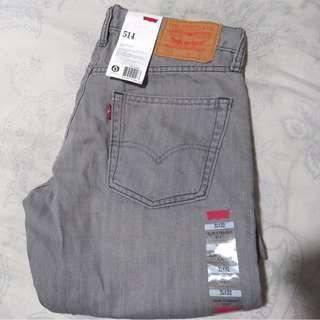 Authentic Brand new Levi's Slim Straight gray jeans pants