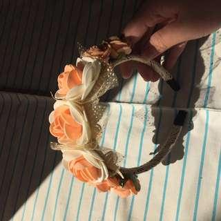 Bando Handmade Vintage Orange Roses