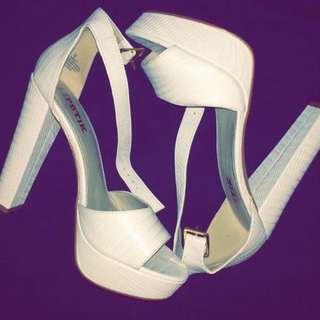 Size 8 White Heels