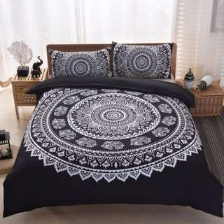 King/queen Paisley Bed Sheet & 2 Pillow Cases