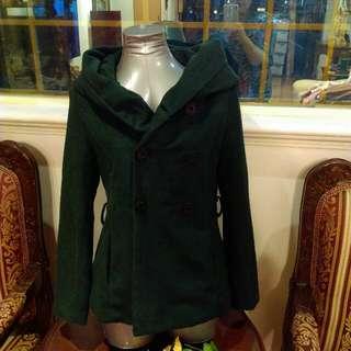 🚚 M號毛料保暖翻領外套