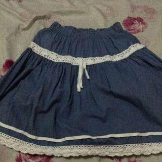 Light blue unbranded summer skirt