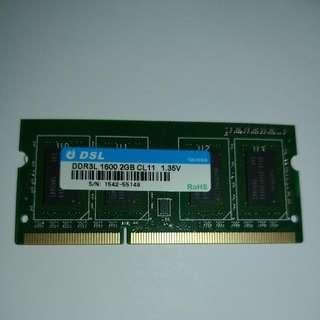 DSL Ram 2gb (DDR3L)