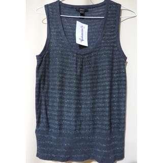 Authentic Mango MNG Suit sleeveless designer blouse top (#23)