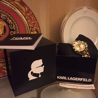 AUTHENTIC KARL LAGERFELD 7 GOLD WATCH