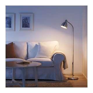 IKEA LERSTA, Lampu lantai/ baca, bahan aluminium, tinggi 131cm