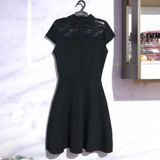 Black Formal Dress With Lace Details