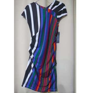 Authentic Brand New Chloe US designer plain stripes colorful dress (#63)