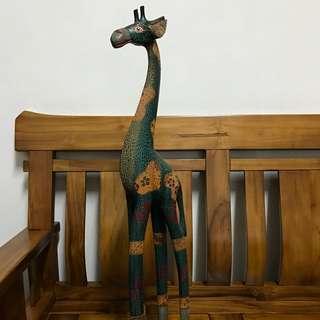 長頸鹿木雕