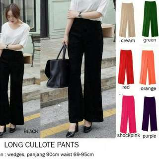 Long wife pants/kulot panjang/maxi kulot/cullote