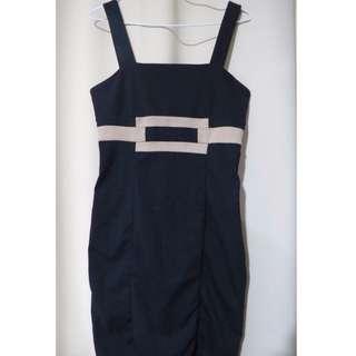 Authentic Banana Republic designer plain black strappy sleeveless dress (#68)