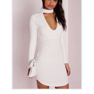 Missguided White Dress Size 8