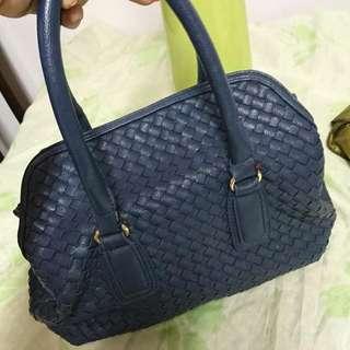 藍色編織包(中型)款