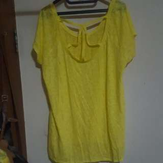 Bigsize Woman Shirt (Yellow)