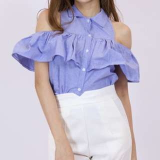 Cute Off Shoulder Ruffles Top