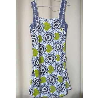 Authentic Brand new Scrapbook Originals designer floral printed yellow blue sleeveless dress (#70)