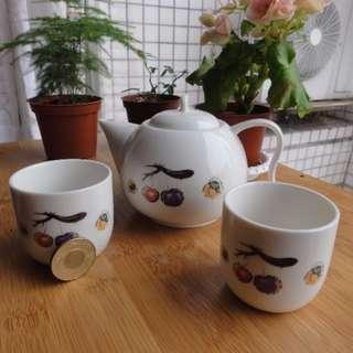 精緻典雅茶具組 白瓷