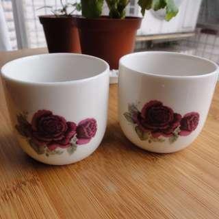 精緻經典白瓷小茶杯