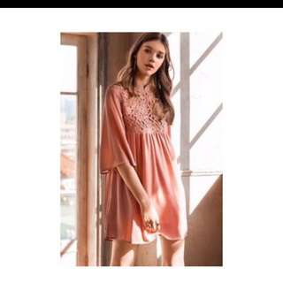 (FURTHER REDUCED TO CLEAR) Pink Lace Dress