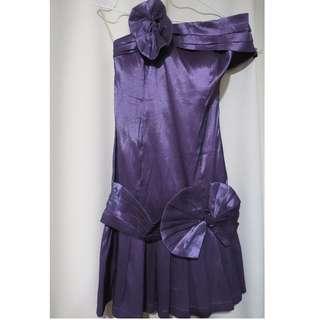 Authentic Brand New Romeo and Juliet designer plain metallic violet dress (#74)