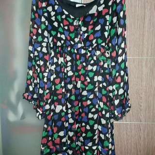 Colorfullheart Mini Dress