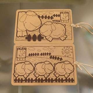 羊仔木製明信片