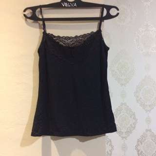 Black Tanktop With Lace