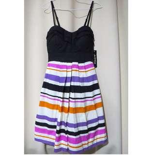 Authentic Brand new As U Wish designer black colored printed spaghetti strap dress (#77)