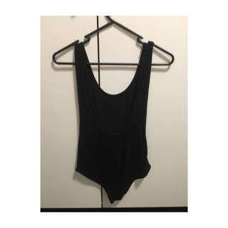Boohoo Black Low Back Bodysuit