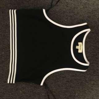 Black Sports Bra/ Crop Top