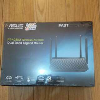 全新香港行貨Asus Ac58u Ac1300 Wireless Router