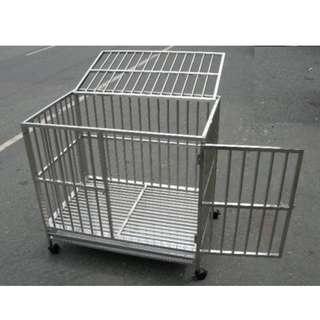 狗籠 白鐵不銹鋼/不鏽鋼管狗籠/寵物籠 95cm*65cm*90cm (4500含運)
