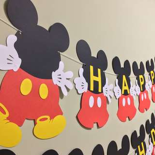 Party Banner Mickey Mouse