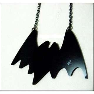 agnes b 蝙蝠 黑色項鍊