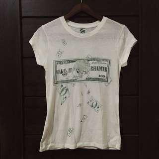 White Graphic T-shirt - Baju Kaus Bergambar