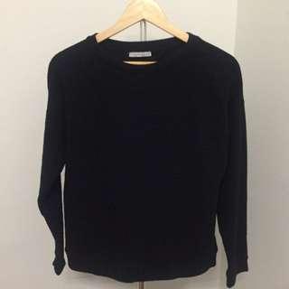 Zara Long Sleeves Top - Black