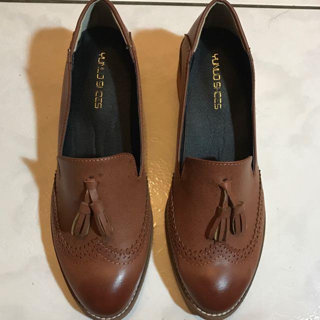 擦色低跟樂福鞋38號39號