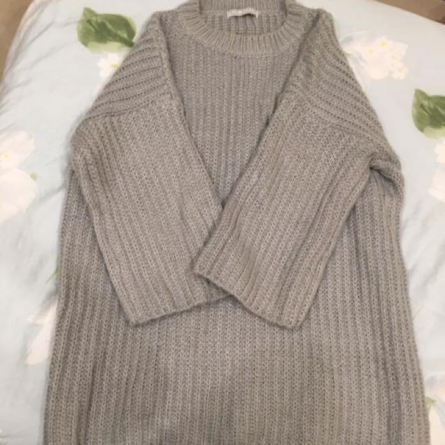 長版厚毛衣(寬鬆)