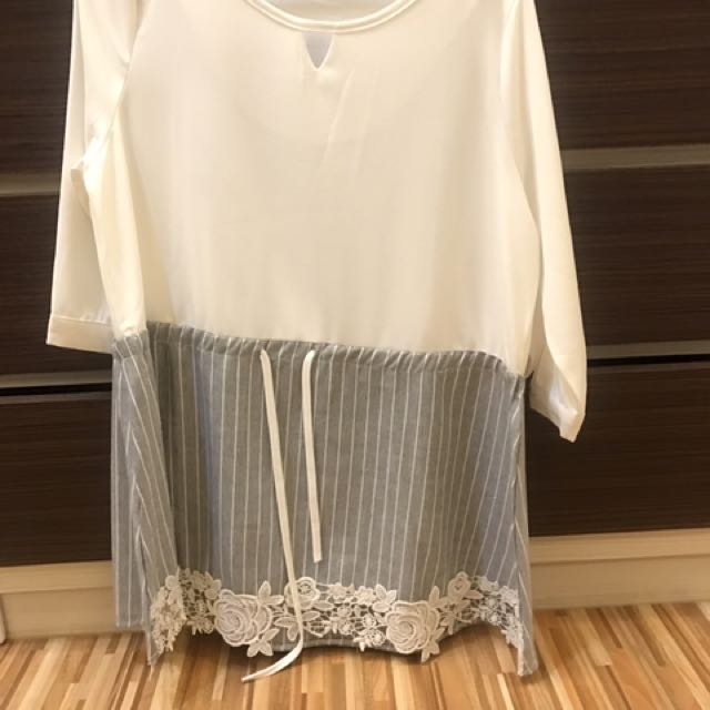 《衣櫥出清》連身綁帶縮腰洋裝#100元洋裝