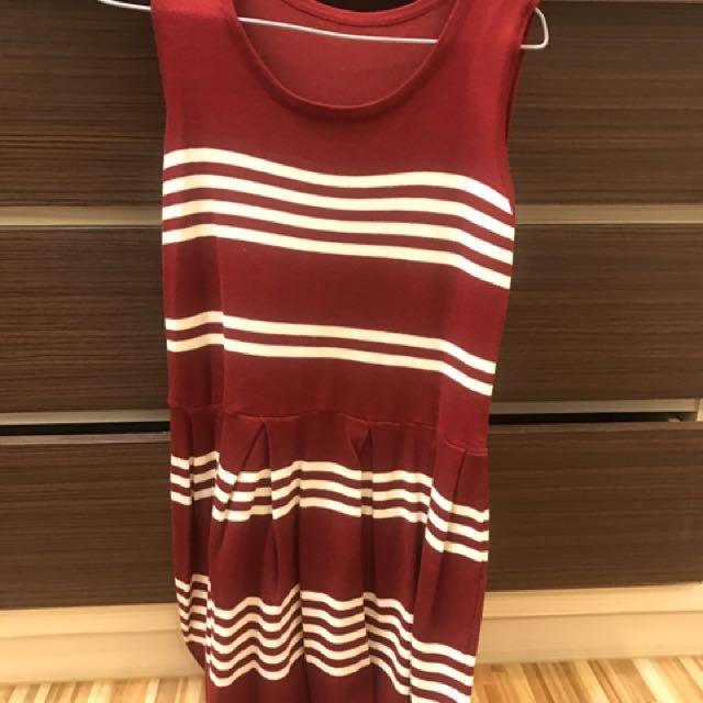 《衣櫥出清》紅色連身針織洋裝#100元洋裝