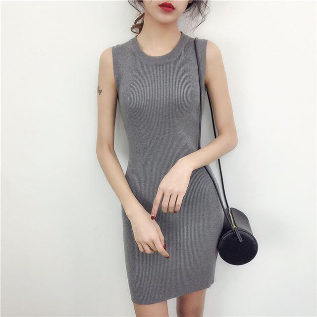 針織背心裙