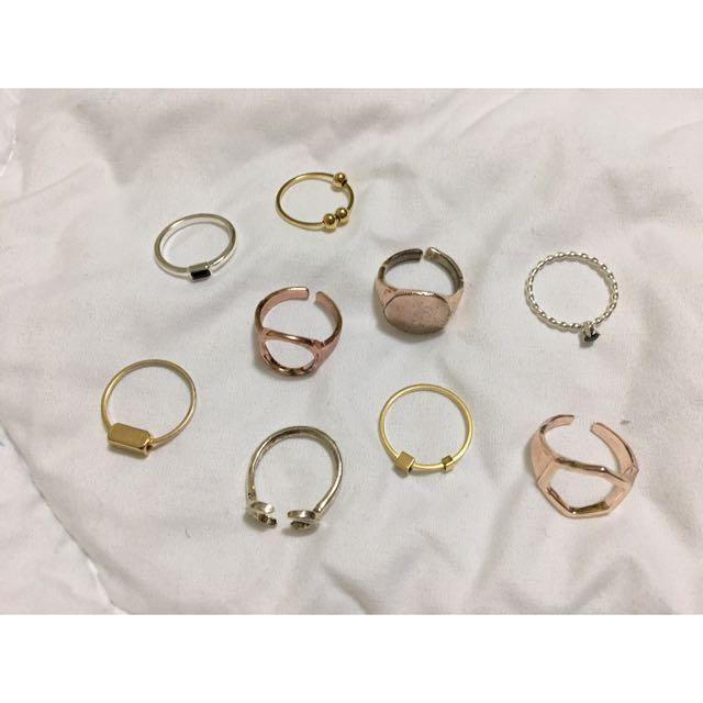 戒指們 玫瑰金 金 銀