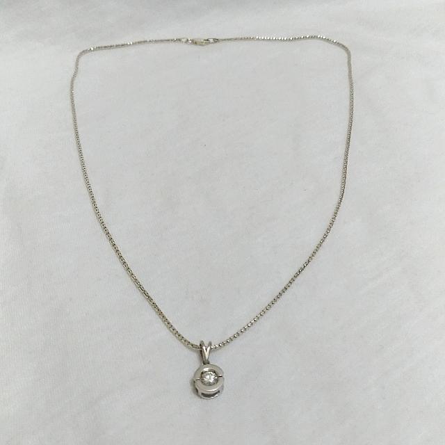 單顆天然鑽石項鍊